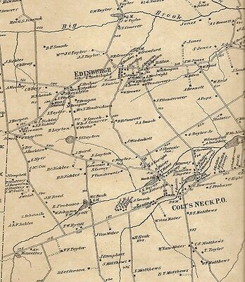 Colts Neck Vanderburg Hillsdale NJ 1873 Maps with Homeowners Names Shown