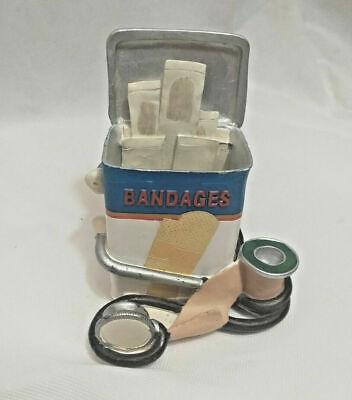 Doctor Business Card Pencil Cup Or Band-aid Holder By Figi - 5 Doc Office Phd