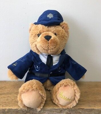 "Harrods Teddy Bear Constable Bobby Police 17"" Plush Knightsbridge England Plush"