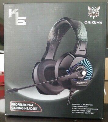 ONIKUMA K6 Gaming Headset-PS4 Headset with Mic, 7.1 Surround Sound