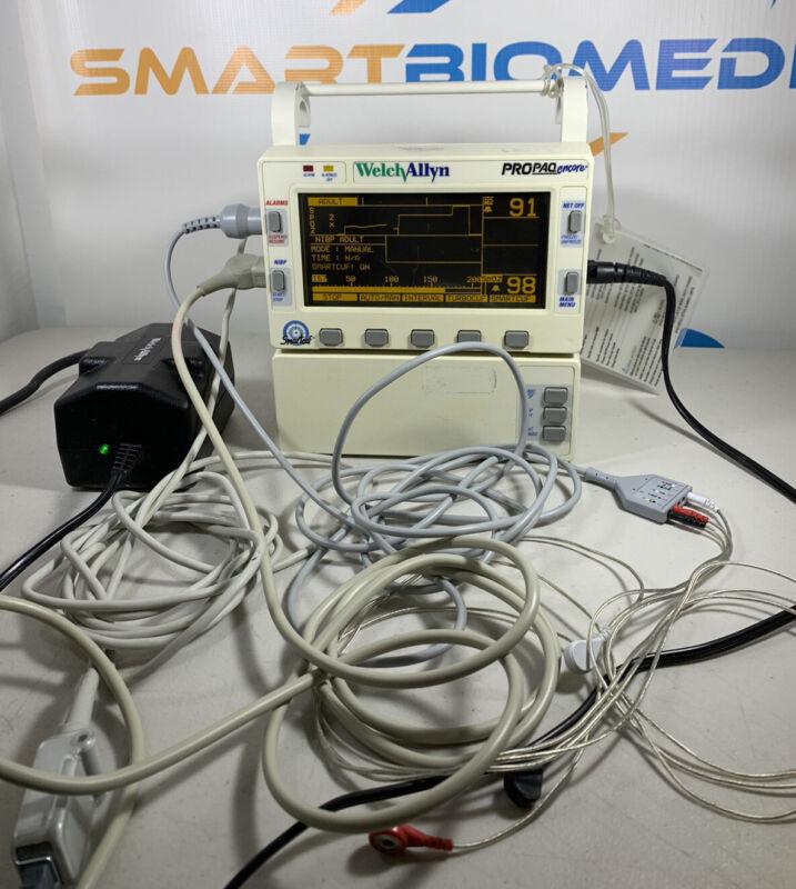 Welch Allyn ProPaq Encore Model 202 EL Multi Vital Signs Monitor & Accessories