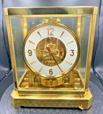 "LeCoultre Atmos Brass Mantel Clock 15 jewel ""Heritage"" Edition W/Original Box"