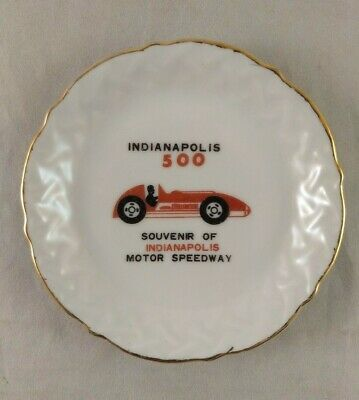 Indianapolis Motor Speedway 500 Souvenir Dish Plate Tray Ashtray, Ferrari Design