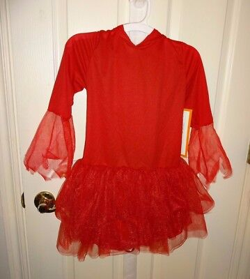 NEW Halloween Youth Girls' Toddlers Red Tutu Devil Costume Sizes S, M, L AVAIL!