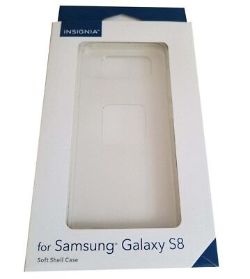 NEW Samsung Galaxy S8 Soft Shell Case by Insignia - Clear TPU, Flexible Plastic