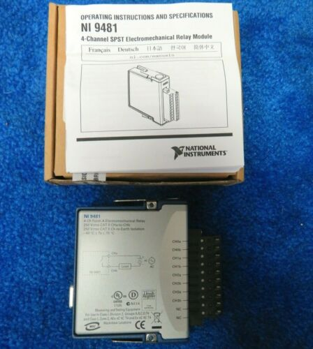 National Instruments NI 4 channel relay output module NI-9481