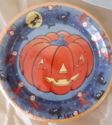 Pappteller 10 Teller Halloween Kürbis Partygeschirr Pappgeschirr Party 129179313