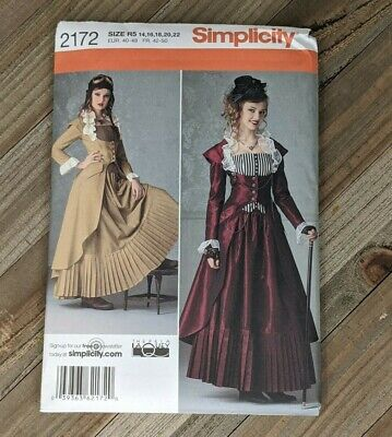 Simplicity Sewing Pattern #2172: Steampunk Cosplay Halloween 14, 16, 18, 20, 22