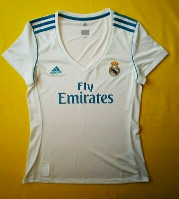 42732996819 Real Madrid jersey women large 2018 home shirt B31110 Adidas soccer ig93