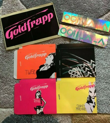 Rare Vintage Goldfrapp CD Slipcases & Stickers - Black Cherry - Mute - Ooh La La