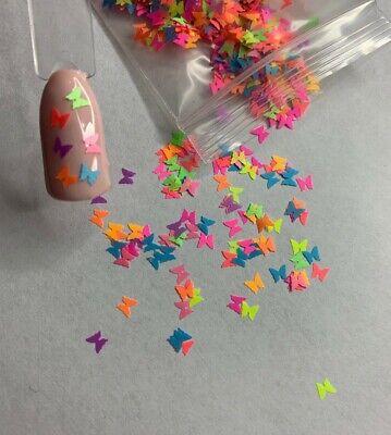 Multicolor Butterflies Nail Glitter | 1 TSP | Gel Nail Art & Acrylic