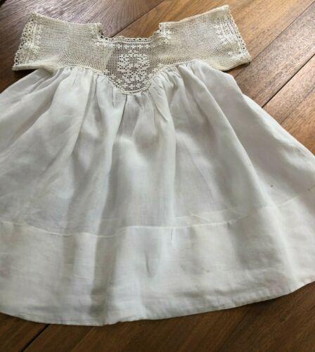 Vintage Handmade  Lawn Baby Dress, Crochet Sleeves and Top
