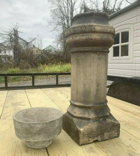 Antique Chimney Cap Terra Cotta Pot Architectural Salvage Vtg Garden Home Decor