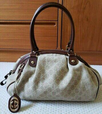 Gucci Sukey Medium Boston Guccisima Gg Stonewashed Leinen 223974 Schulter - Gucci Medium Umhängetasche