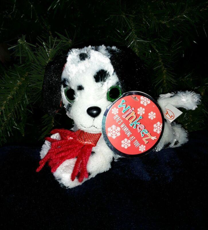 Winkeez Black and White Dalmation Plush Winter scarf Christmas Penguin Lot