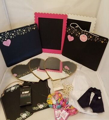 Chalkboard Signs for Wedding or Shower, Heart Mirrors, Garland, Bottle Toppers