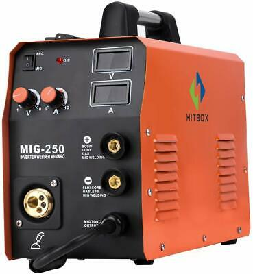 Mig Welder 220v 200a Flux Core Gas Gasless Inverter Arc Tig Mig Welding Machine