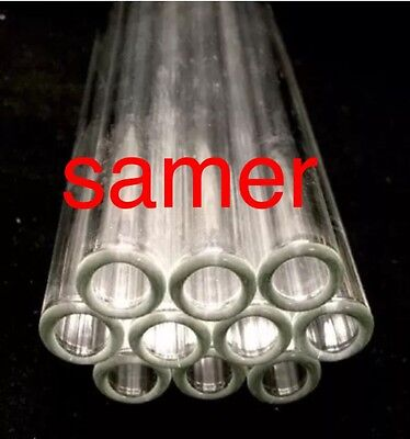 """12 mm OD 8mm ID  Pyrex Glass Blowing Tubing (10) Pces CLEAR  8 """" LONG"""