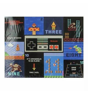 NEW NES Nintendo 12 Days of Socks Advent Countdown Calendar ~ Men Size 10-13
