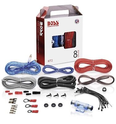 BOSS Audio KIT2 8 Gauge Wiring Amplifier Installation Kit