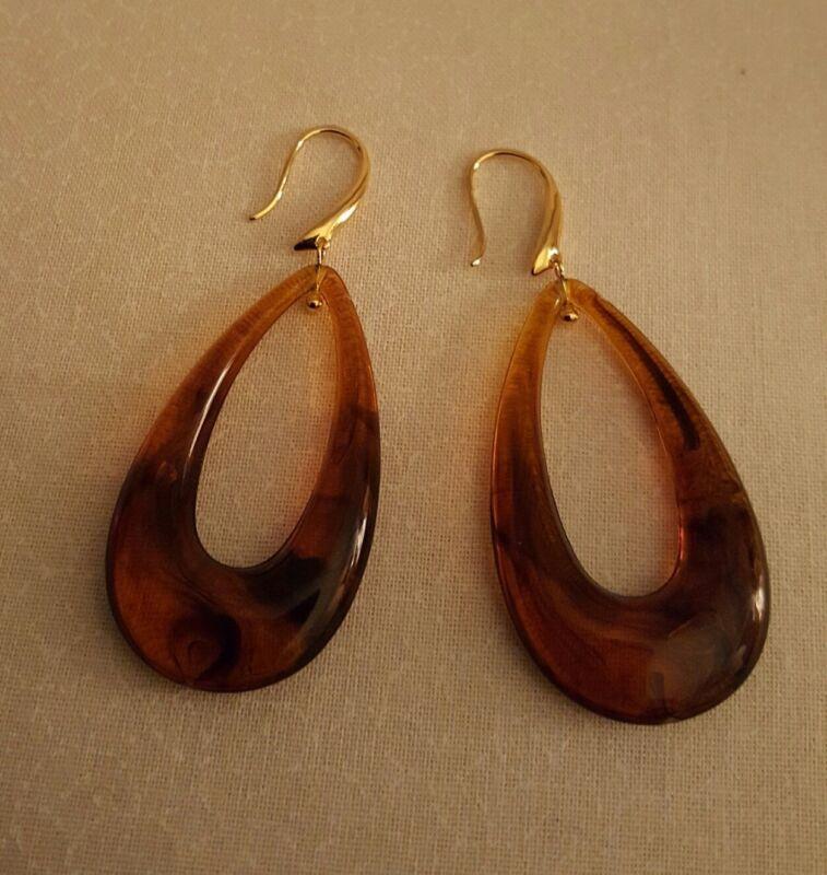 Tortoise Oval Earrings