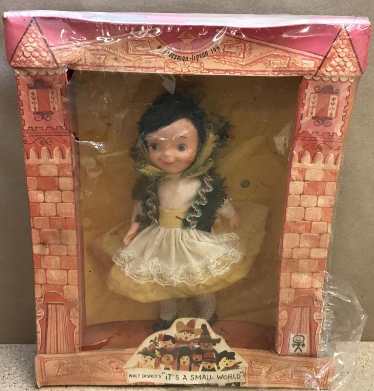 RARE 1964 Pressman Lipson Pen Pal Walt Disney Its a Small World Doll (IRELAND)