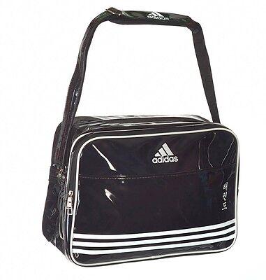 AKTION: adidas Shiny Sports Bag PU navy schwarz/weiß TKD Taekwondo Umhängetasche