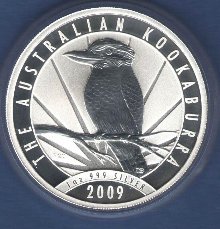 2009 KOOKABURRA solid Silver 1 oz .999 Fine Australian $1 Coin -original capsule
