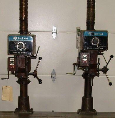 Rockwell Dual Drill Press Table Model 20  11888wt