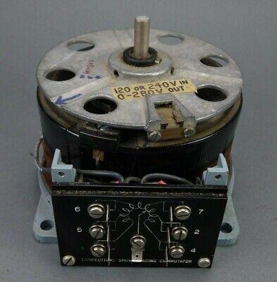 Powerstat 226u Variable Autotransformer 24v Input 5060hz 0-280v Output