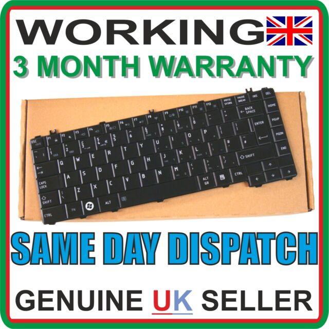 TESTED Toshiba Satellite L735 Original Genuine UK Keyboard Black