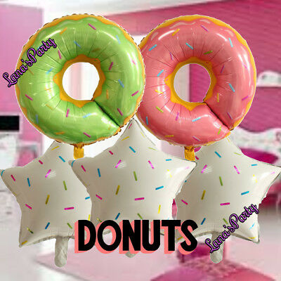 Donuts Doughnuts Ice Cream Balloons Toppers Birthday Party decorations cake - Ice Cream Balloons