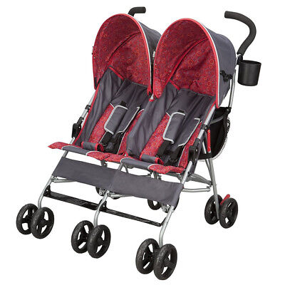 Light Double Stroller (Baby Stroller For Twins Two Kids Double Buggy Light Folding Canopy Storage)