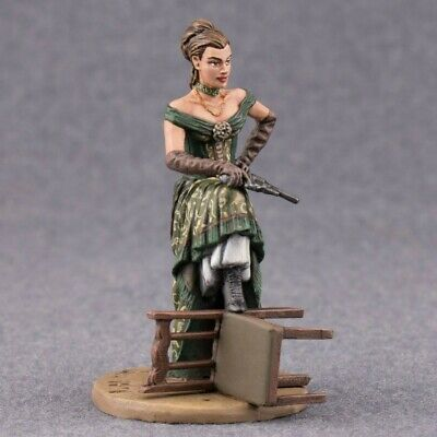 Saloon Mistress Metal Toy Soldier 54mm Girl Figurine Woman Painted Tin Female - Mistress Metal