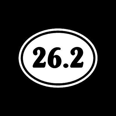 (26.2 oval marathon vinyl decal, car sticker, runner accessories, running shoes)