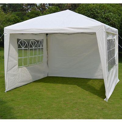 10'x10' EZ POP-UP Party Wedding Tent Folding Gazebo Beach Canopy W/ 4 Sides/ Bag