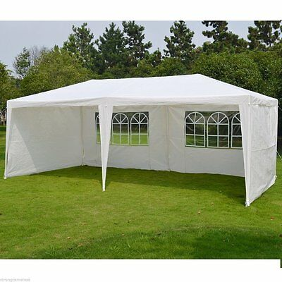 3Mx6M Waterproof Outdoor Garden Gazebo Canopy Marquee  Awning Party Wedding UK