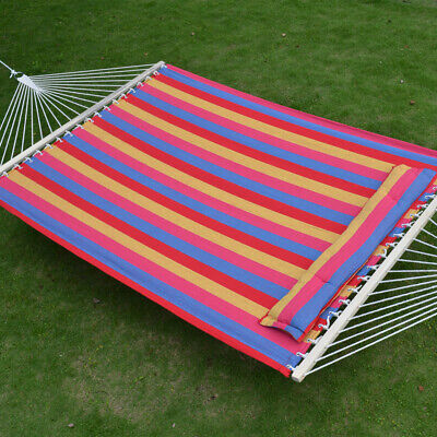 """Used, 79x55"""" Hammock Quilted Fabric w Spreader Bar & Detachable Pillow, 330LB Capacity for sale  Baldwin Park"""
