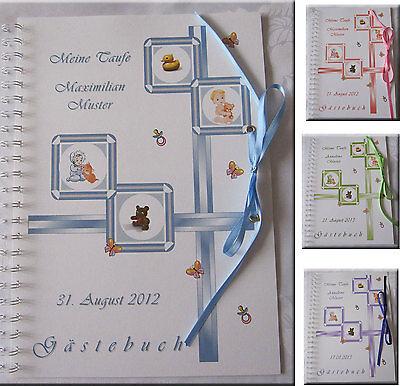 Gästebuch Taufe - mit Bild des Kindes # 4 Farben # Geschenk Baby Taufgeschenk