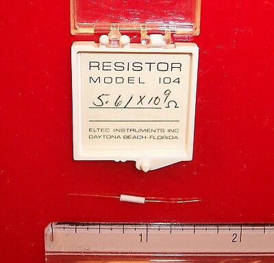 Qty 1 Eltec Model 104 High Megohm Tubular Resistor 5.61x109 Ohm