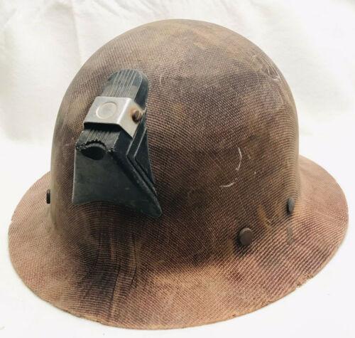 Vintage MSA Fiberglass Miners Skullguard Hard Hat Saftey Helmet