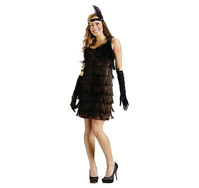 Brand New Roaring 20s Prohibition Flapper 1920s Adult Costume Medium 10-14 - 1920s Prohibition Costume