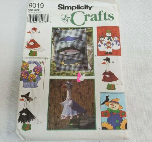 Vtg Simplicity Crafts Pattern 9019 Seasonal Yard Flags Lawn Geese Clothing UNCUT