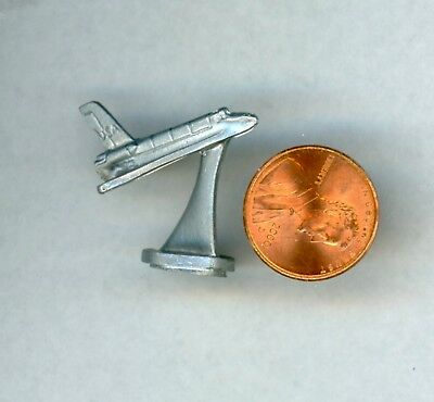 """Miniature Dollhouse Cast Metal Space Shuttle on Stand 1/"""" High"""