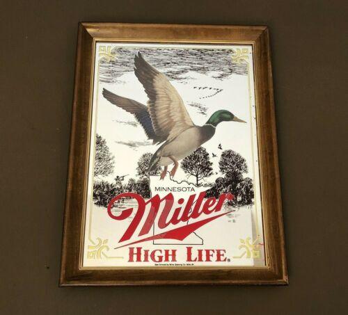 RARE 🔥VTG Miller High Life Beer Sportsman Series Minnesota Mallard Duck Mirror