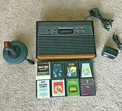 Atari 2600 Console w 8 Games and Joystick (Refurbed/Tested) PITFALL Donkey Kong