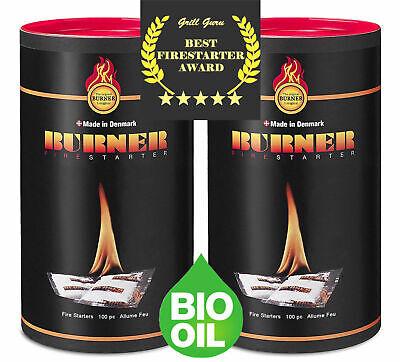 Original Burner Firelighters Firestarters Eco Natural bbq fires - 200 Sachets