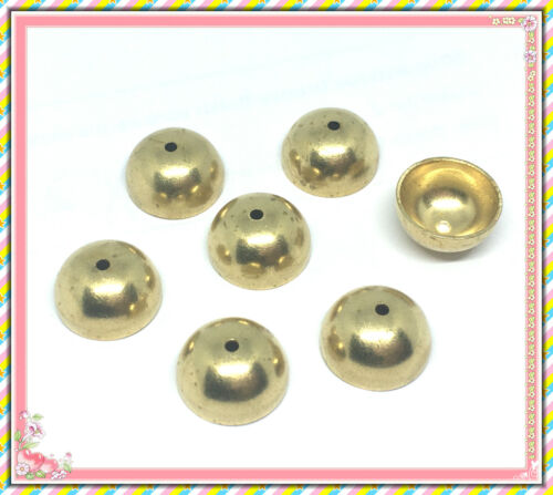 6pc 13mm brass made dome shape bead caps -LV86L