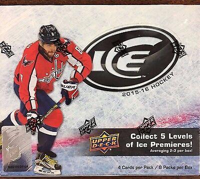 2015-16 Upper Deck Ice Hockey Factory Sealed Hobby Box