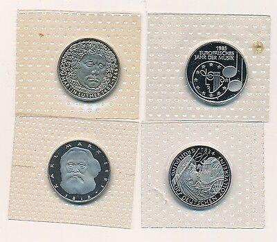 BRD - 4 Gedenkmünzen 5 DM - alle PP - original eingeschweißt